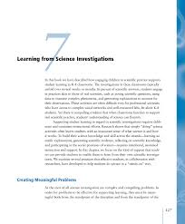 7 learning from science investigations ready set science