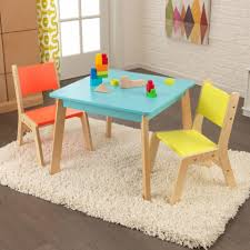 Set Table by Modern Table U0026 Chair Set In Highlighter