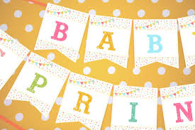 what is a sprinkle shower sprinkle baby shower banner in whites and brights unisex baby