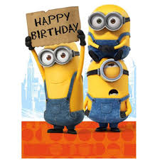 minion gift wrap happy birthday sign minions card mm021 character brands