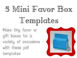 mini favor box tutorials and templates
