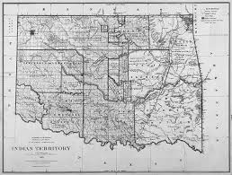 Oklahoma State Map Maps Of Indian Territory The Dawes Act And Will Rogers