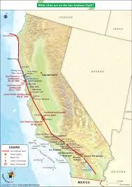 Map Of The Coast Of California What Cities Are On The San Andreas Fault Answers