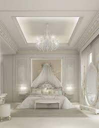 Master Bedroom Design Private Villa Dubai UAE Bedroom - White bedroom designs