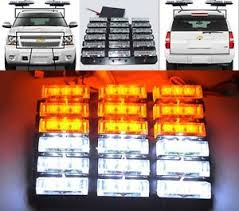 golf cart led strobe lights universal diy waterproof 54 led white amber strobe lights tow truck