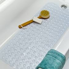 vinyl bath mat clear bathroom frills