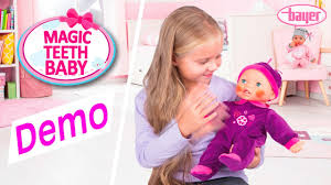bayer design puppe magic teeth baby doll puppe demo bayer design