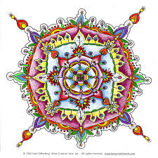 free mandala drawing color