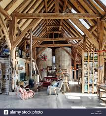 Barn Plans With Living Space Main Open Plan Living Space In Barn Feeringbury Barn Silo