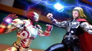 iron man vs thor stop motion fight youtube
