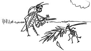 the ant and the grasshopper fiddlehed