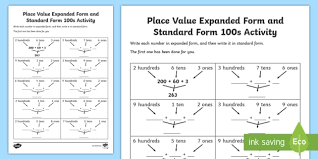 place value in expanded form au t2 m 2399 place value expanded form and standard form 100s activity sheet ver 1 jpg