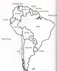 Blank South America Map Thegeographyking