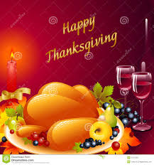 thanksgiving cards background with turkey stock vector