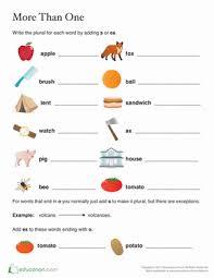 singular nouns to plural nouns worksheet education com