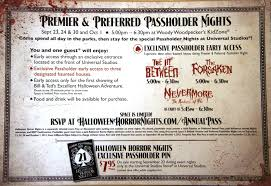 drinks at halloween horror nights universal u0027s fall 2011 passholder mailer arrives secrets revealed