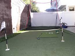 Golf Net For Backyard by Premium Artificial Grass Backyard Putting Greens