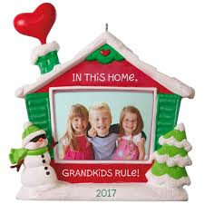 grandkids rule picture frame ornament keepsake ornaments hallmark