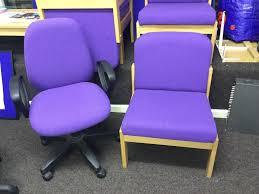 Upholstered Swivel Desk Chair Swivel Desk Chairs X 4 Upholstered Fabric 10 Each 1 X Purple