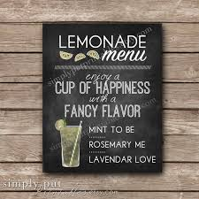 lemonade menu chalkboard party sign lemonade birthday party