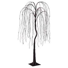 philips 6 pre lit artificial willow tree orange