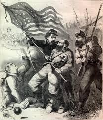 Civil War Union Flags Battle Flag
