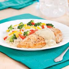 cuisiner le poulet poitrines de poulet sauce crémeuse allégée soupers de semaine