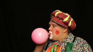 clown balloon clown and balloon stock footage 3860633