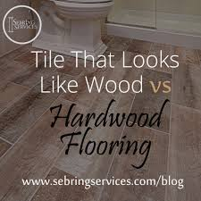 V S Flooring by Tile That Looks Like Wood Vs Hardwood Flooring Home Remodeling