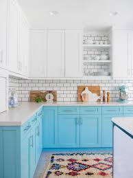 green base cabinets in kitchen 10 blue tiful kitchen cabinet color ideas hgtv