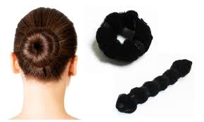 black hair buns for sale styling solution roll snap and wrap hair buns groupon