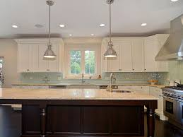 interior modern style kitchen backsplash glass tile blue glass