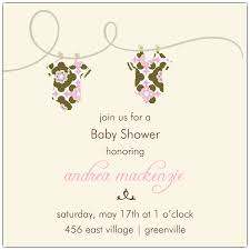 mod baby shower clothesline simple mod girl baby shower invitations paperstyle