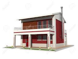 contemporary house design three dimensional contemporary house on white background exclusive