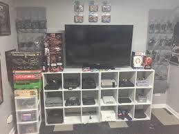 video game console setup th den slash man cave pinterest