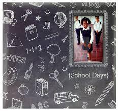 expandable scrapbook mbi 12x12 inch school days chalkboard expandable