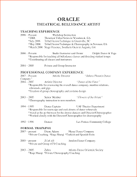 Actor Resume Templates Dance Resume Template Best Business Template