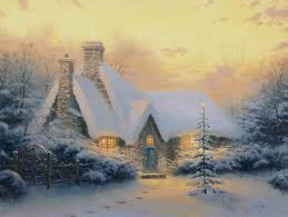 tree cottage limited edition the kinkade
