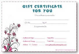 doc 484254 fillable gift certificate template u2013 free gift