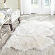 White Rug Amazon Com Safavieh Sheepskin Collection Shs121a Genuine