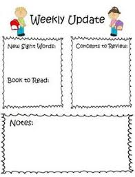classroom weekly newsletter 6 simple templates stuff