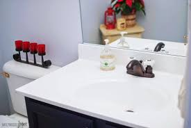 Bathroom Countertops And Sinks Remodelaholic Painted Bathroom Sink And Countertop Makeover