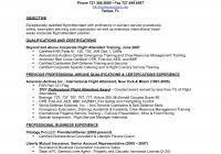 sample resume for flight attendant position 3 best and