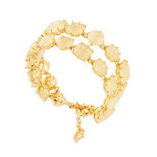 luxury bracelet gold chains images Citrine yellow two rows luxurious bracelet jpg
