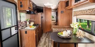 Interior Of A Kitchen 2017 Jay Feather 7 Travel Trailers Jayco Inc