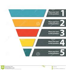 funnel symbol infographic or web design element template for