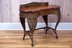 Rattan Desk Chair Antique Art Deco Wicker Desk At 1stdibs