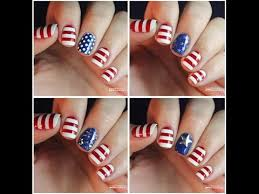 4th of july nail art designs and ideas easy at home youtube