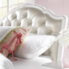 White Heart Bedroom Furniture Sweetheart Upholstered Panel Bed White Hayneedle
