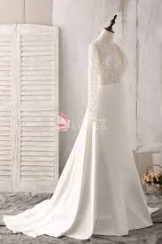 beaded wedding dresses ivory lace and satin scalloped v neck sleeve beaded wedding